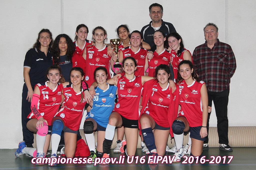 CAMPIONESSE PROV.LI U16 FIPAV 2016-2017