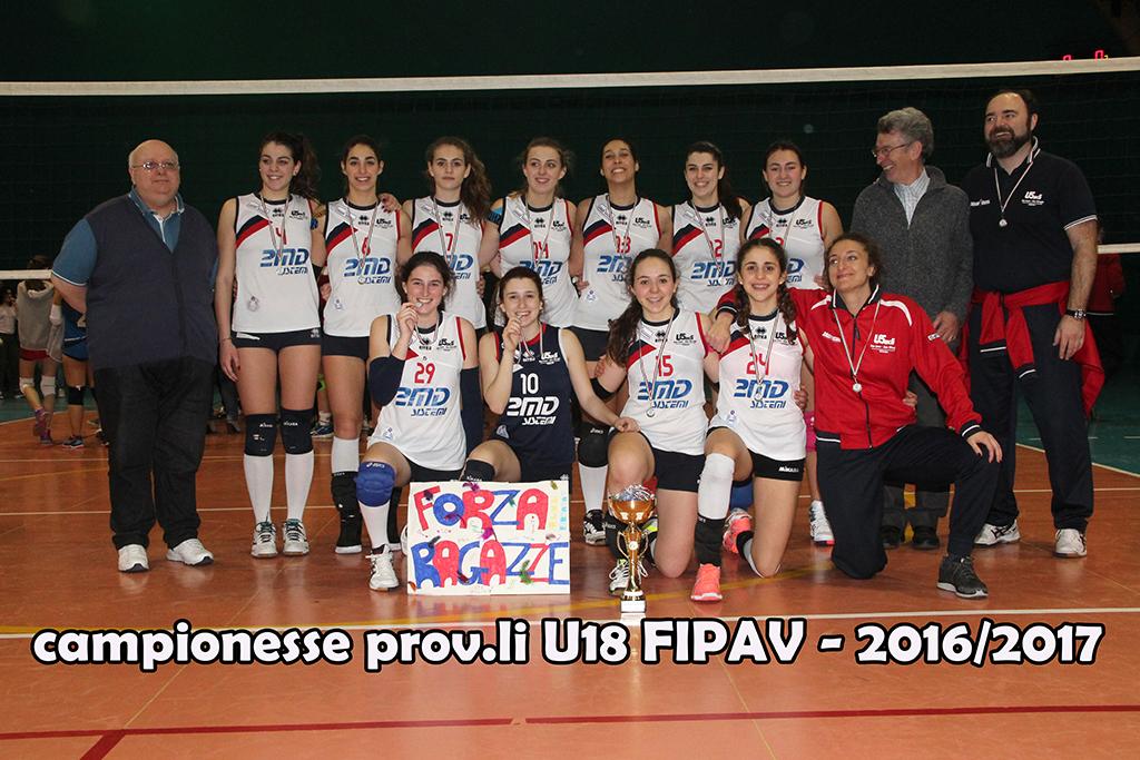 CAMPIONESSE PROV.LI U18 FIPAV 2016-2017